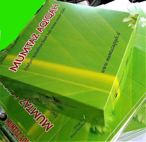 Box yaang dipakai untuk paket nasi Mumtaz Aqiqah: Layanan Aqiqah Profesional Jabodetabek,