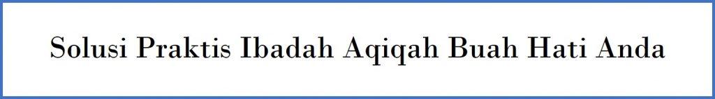 MUMTAZ AQIQAH: LAYANAN AQIQAH PROFESIONAL JABODETABEK